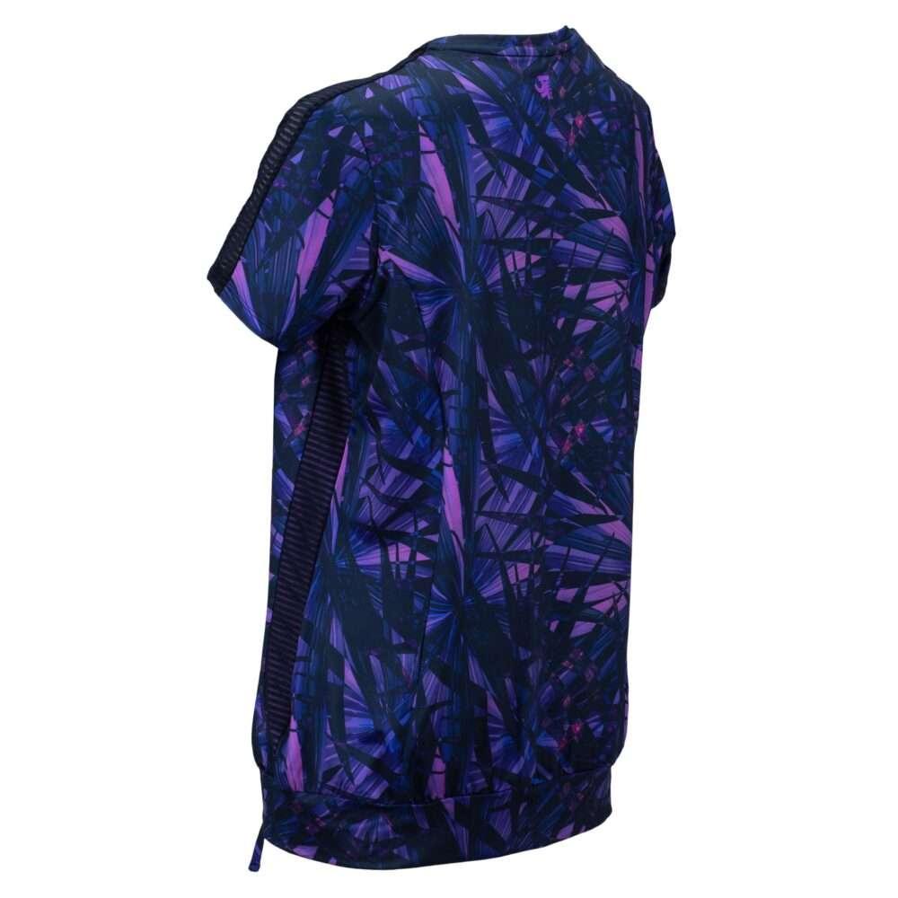 blauw-paarse dames sport top
