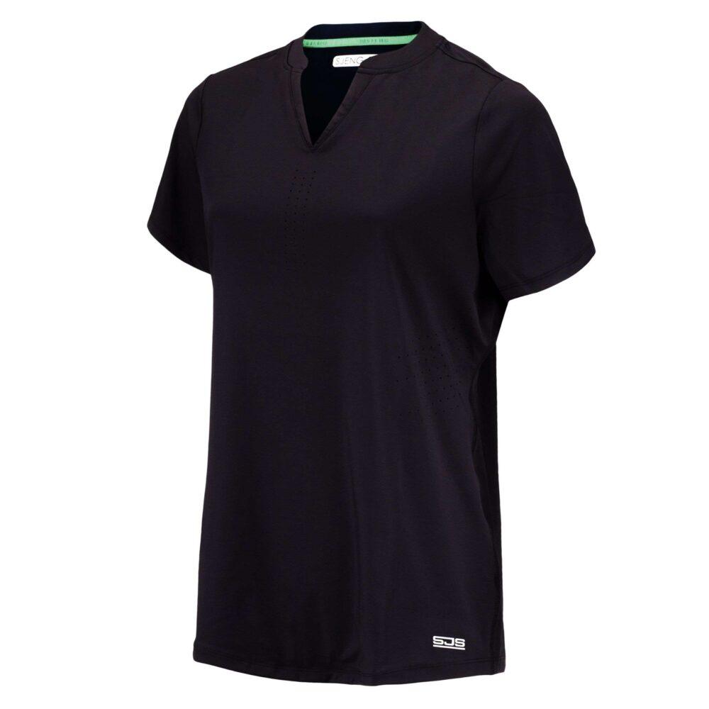 zwarte v-hals dames shirt