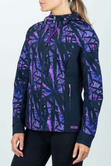 comfort Damestrainingsjack zwart-paars