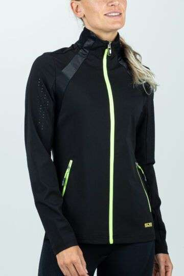zwart vest met neon-groen