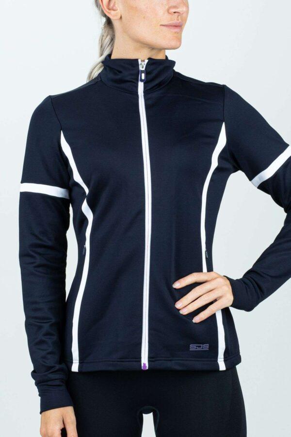 dames vest sport blauw