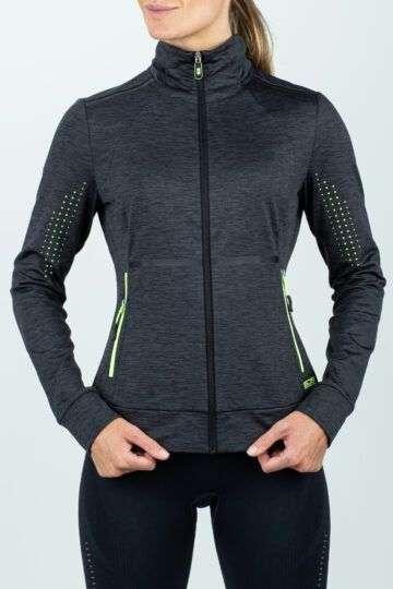 grijs-zwart sport dames vest