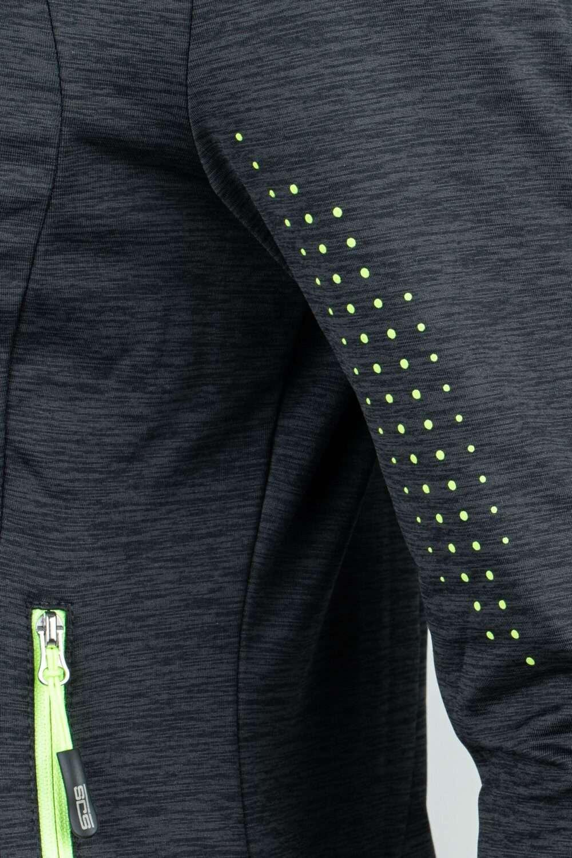 zwarte dames jack groene details