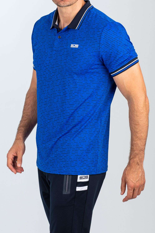 blauwe heren polo tennis