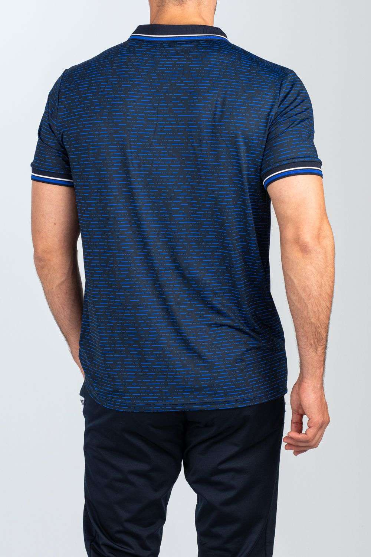 blauw-zwart heren sport shirt