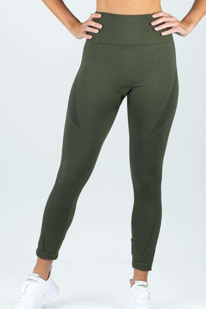 groene stretch dames legging