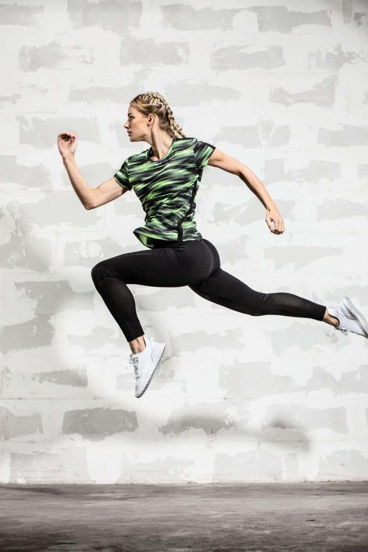 Dames sportkleding set legging shirt