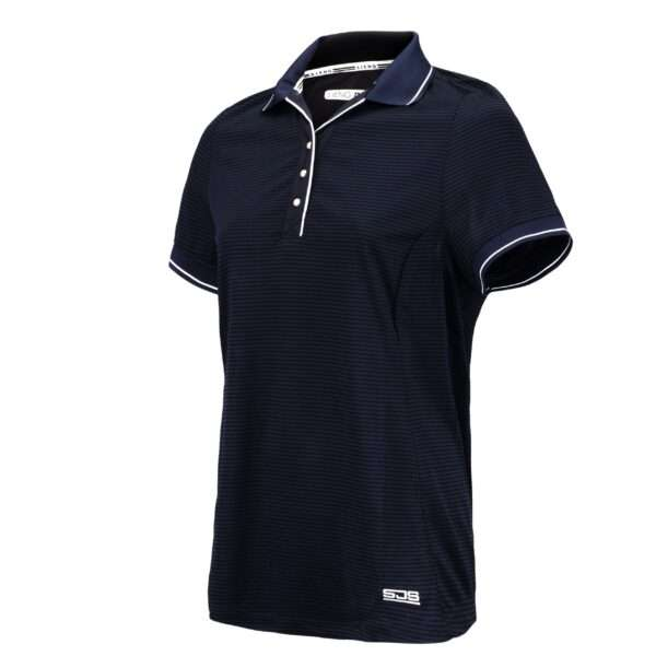 dames polo navy blauw