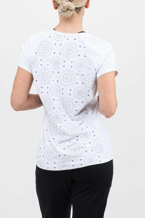 dames t-shirt geperforeerd wit