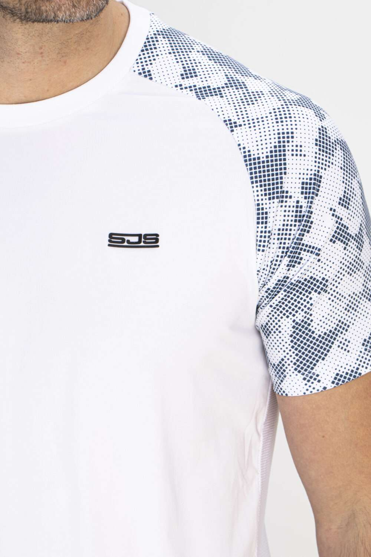 wit sport shirt man borst