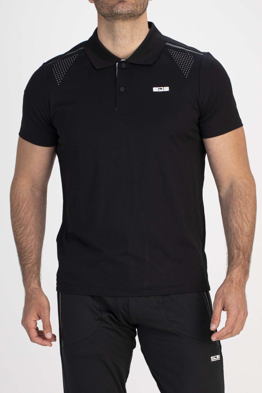 zwart sport shirt man voorkant