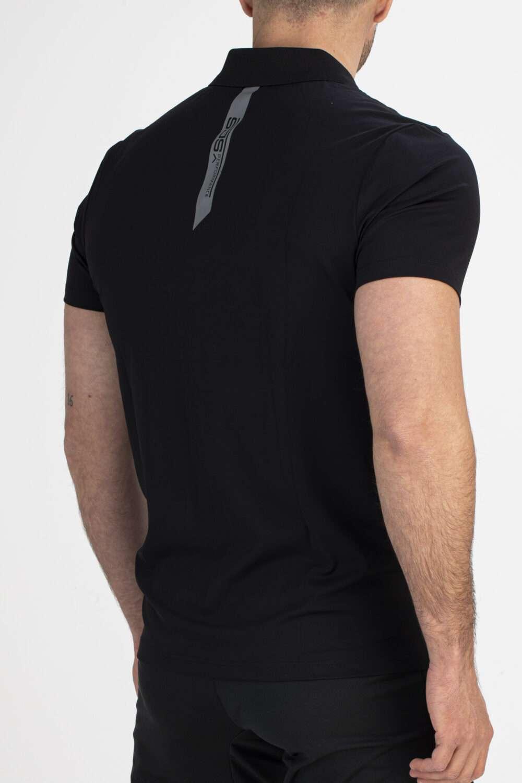zwart sport shirt man achterkant
