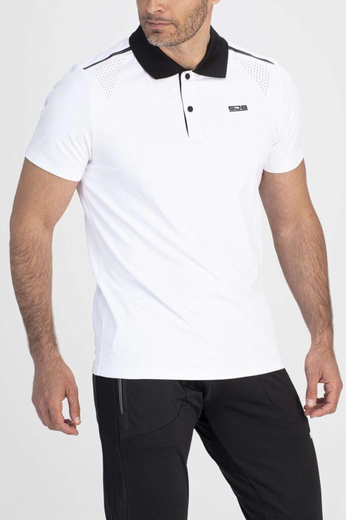 wit sport shirt voorkant man
