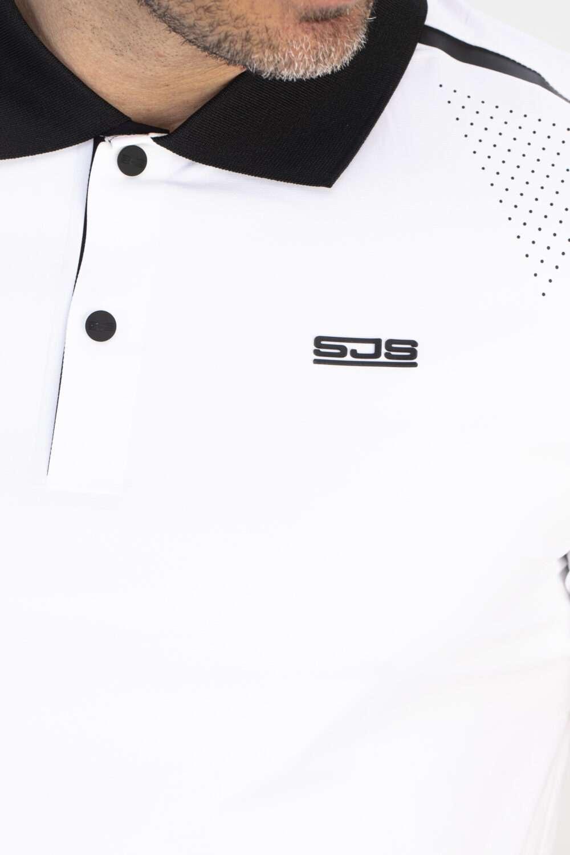 wit sport shirt man voorkant