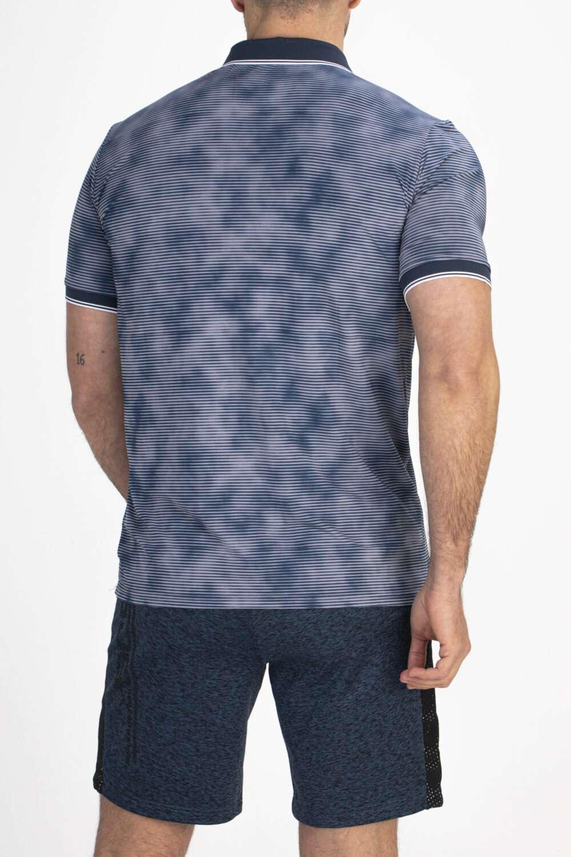 gestreept shirt achterkant man