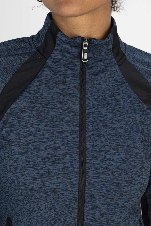 blauw vest rits bovenkant