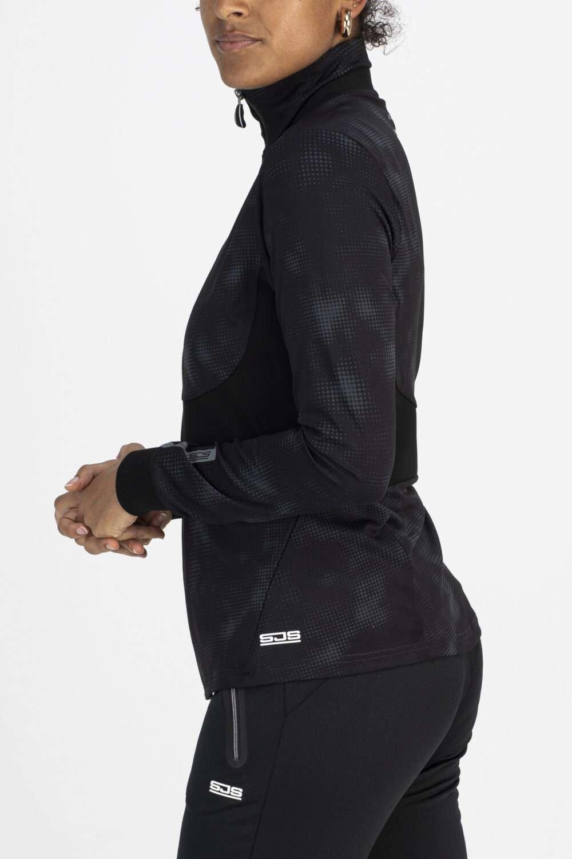 zwart damesvest zijkant