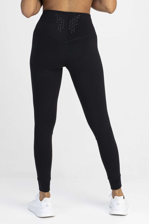 Zwarte legging dames achterkant