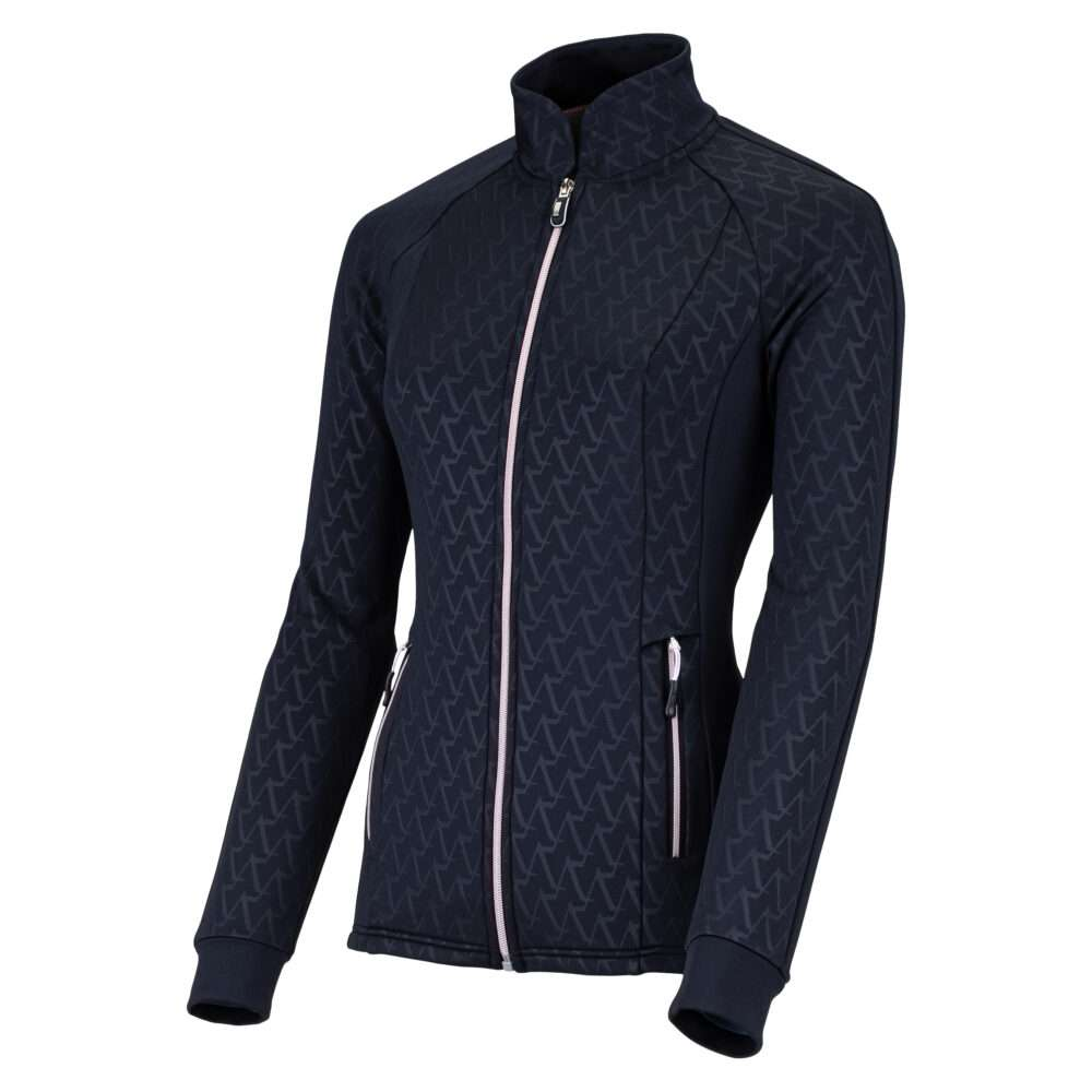 donkerblauw vest plus size voorkant