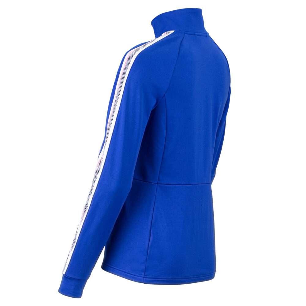 dames vest blauw