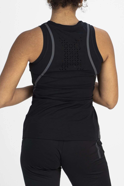 Sportief dames shirt zwart achterkant