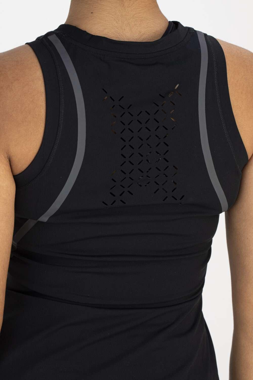 Dames shirt sportief zwart